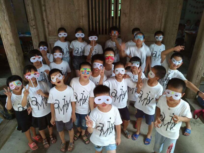 Kids celebrating Halloween during the Amity Summer Camp