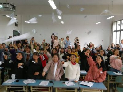 After writing down their wishes and dreams for the future, the participants of the U for Girls program let those wishes
