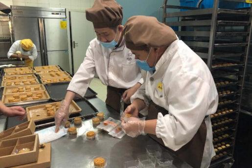 Amity Bakery staff are baking at the Amity Bakery workshop