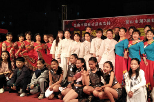 Group photo of a charity event organized by community groups