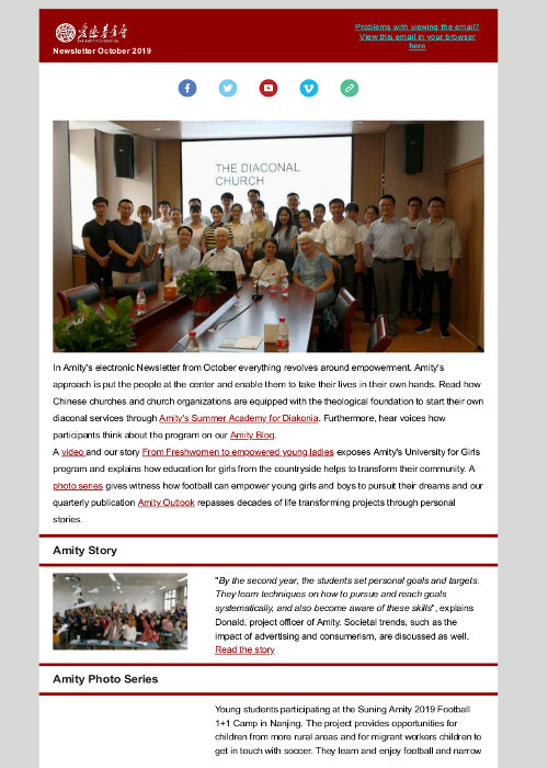 Amity Electronic Newsletter2019_October_Stories of Empowerment