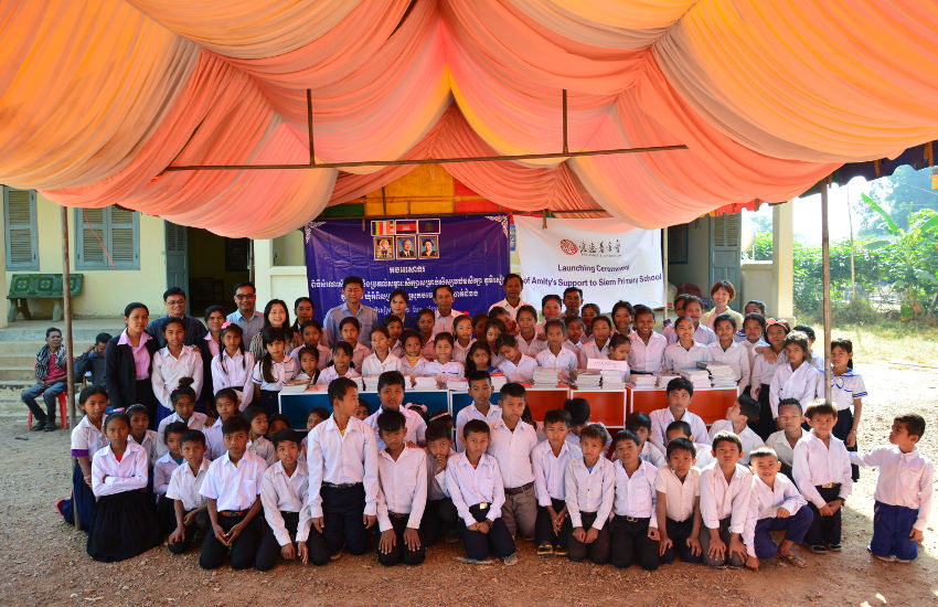 Kick-off ceremony for Amity Education Development Program (Cambodia) in Phum Siam Primary School on Dec 12, 2019
